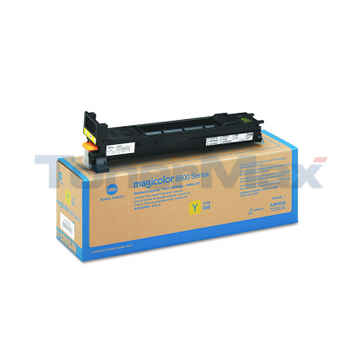 KONICA MINOLTA MAGICOLOR 5550 120V TONER YELLOW 6K